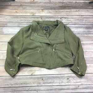 {INC} Silk Moto Jacket Sz S